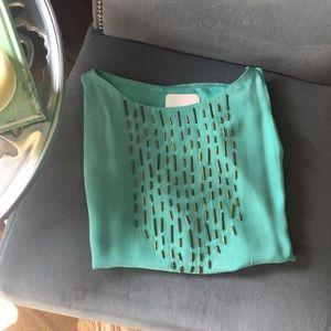 ▪️Aryn K▪️ Silk Blouse with Open Shoulder
